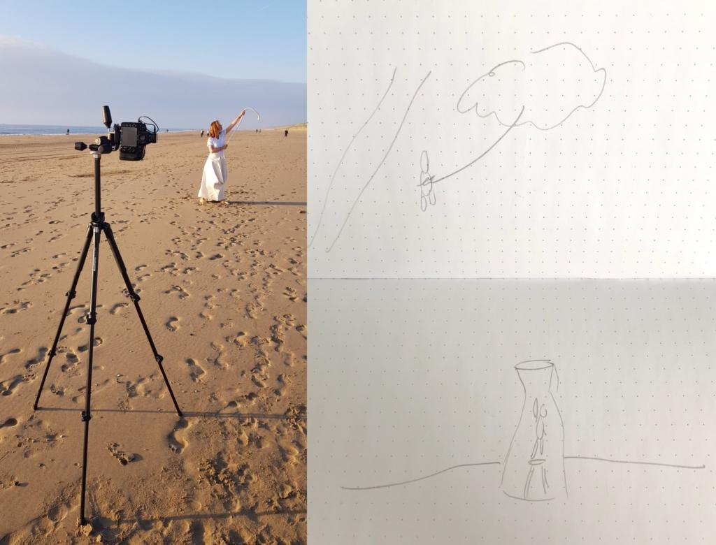 behind the scenes conceptuele fotografie strand hoop wolk fotograaf wassenaar hilde van der sterren